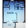 Продаем 1 к квартиру 42 кв. м.  в ЖК Квартал Лукино