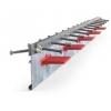 Стальной профиль  ARMOURJOINT для  деформационных швов бетонного пола паркинга жилого дома